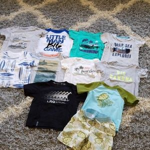 Bundle lot of 24 months shirts and swimsuit